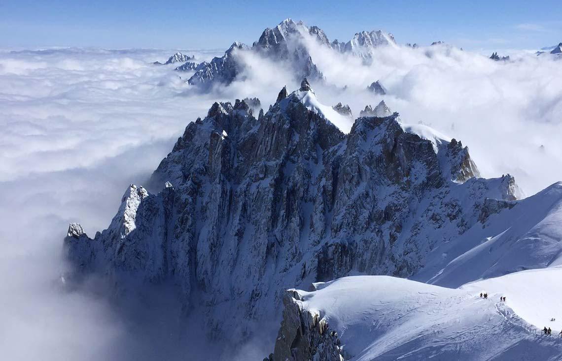 europe mont blanc heliski alpes